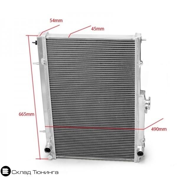 Радиатор алюминиевый Skyline R33 R34 / Laurel C34-35 42mm MT - 3