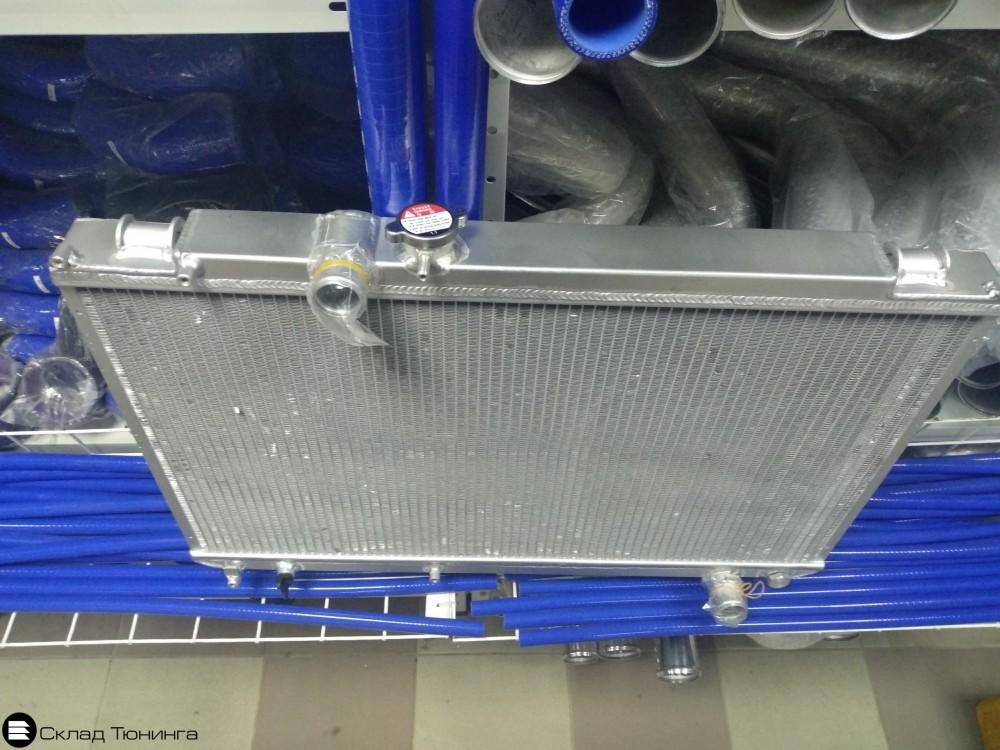 Радиатор алюминиевый 50мм M/T Toyota Mark II, Chaser, Cresta JZX100 - 1