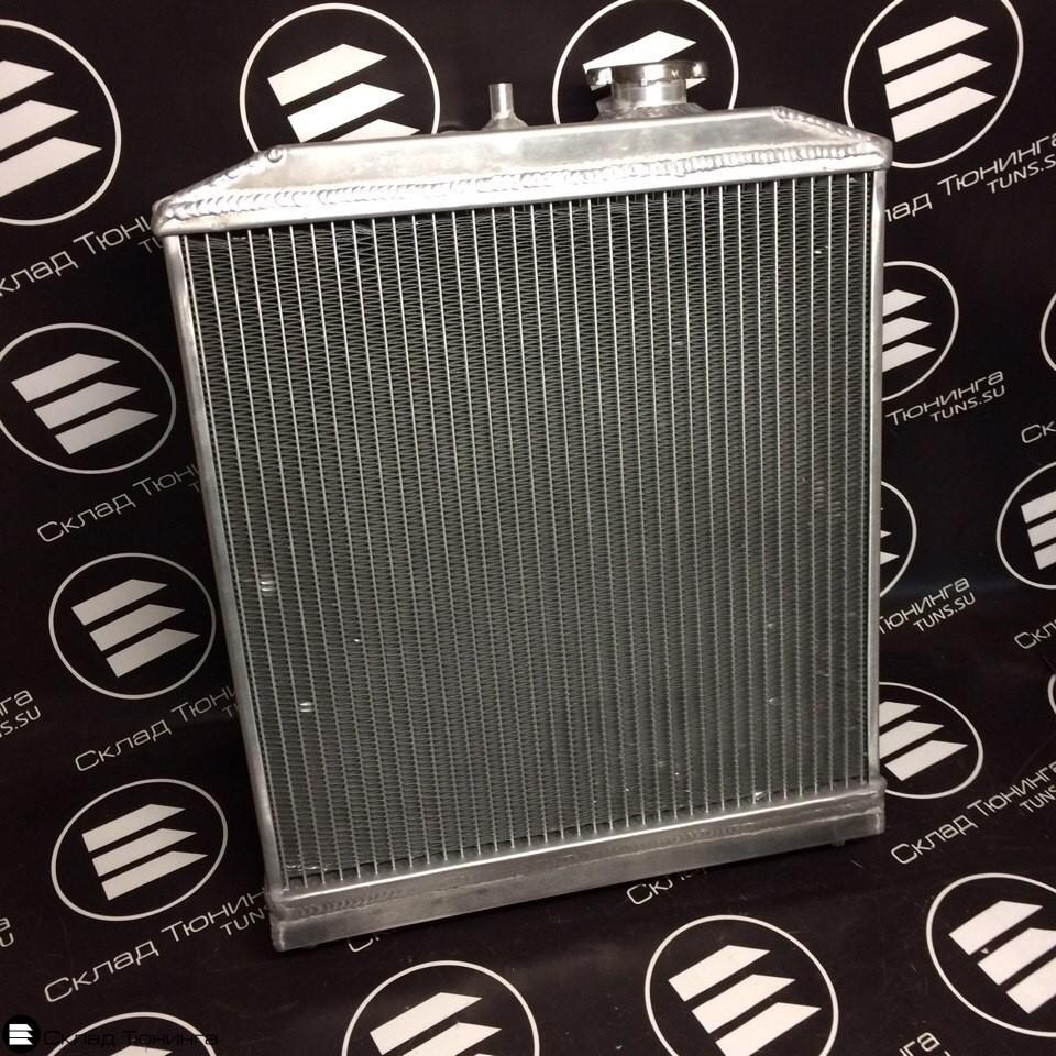 Радиатор алюминиевый 52мм МТ honda civic 92-00 - 1