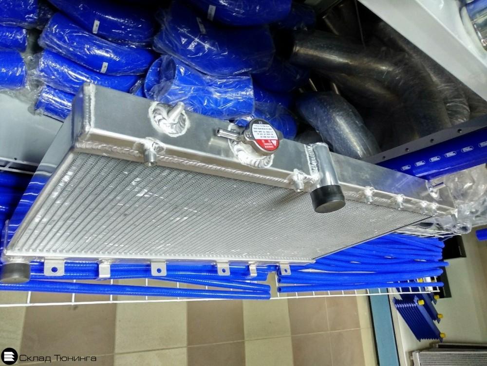 Радиатор алюминиевый 50мм Subaru GDB GD8 MT - 2