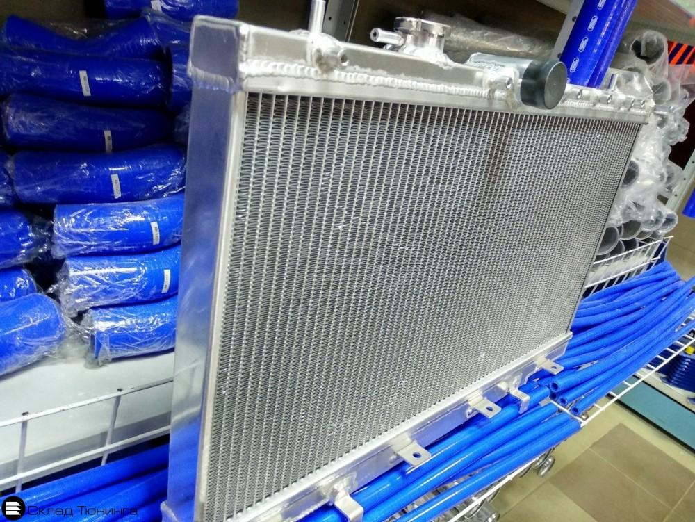 Радиатор алюминиевый 50мм Subaru GDB GD8 MT - 1