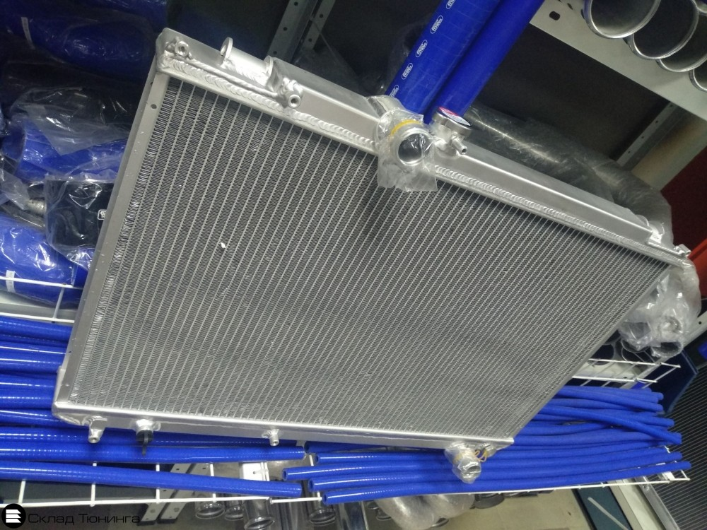 Радиатор алюминиевый 50мм M/T Toyota Mark II, Chaser, Cresta JZX100 - 2