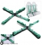 Ремни TAKATA 4-х точечные, зеленые, круглая застежка - 1